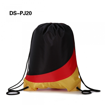 Fancy Color Block Drawstring Bag